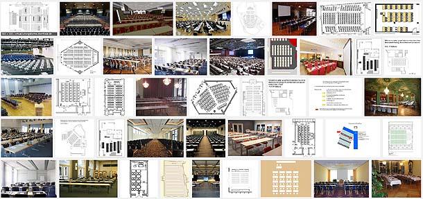 Beispiele für parlamentarische Bestuhlung