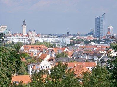 City Leipzig - Blick auf die Innenstadt der Metropole